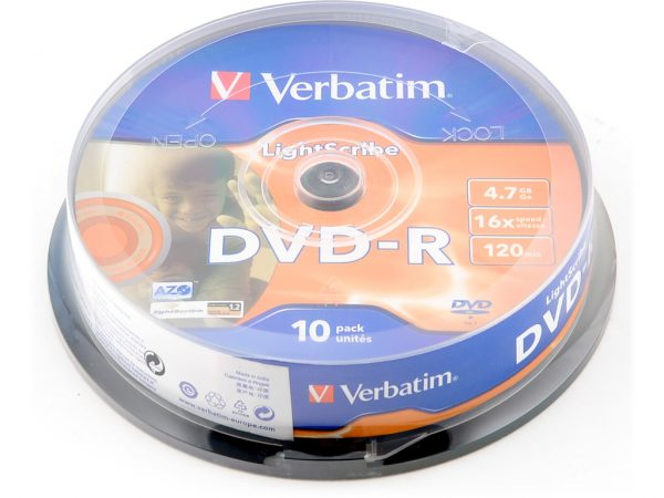 DVD-R VERBATIM SLIM LIGHTSCRIB
