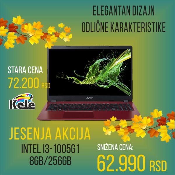 NOTEBOOK ACER ASPIRE A 315 FHD i3-1005G1 8GB 256GB SSD CRVENI