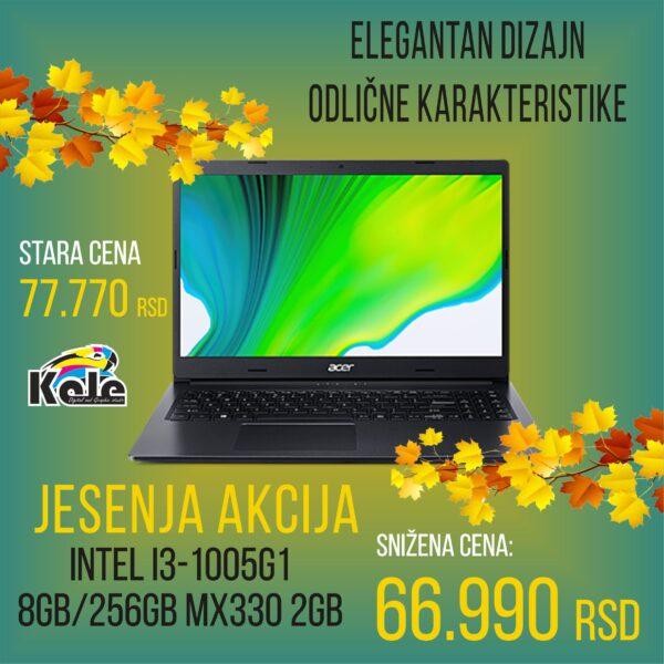 NOTEBOOK ACER ASPIRE A315-57GP i3-1005G1/8GB/256 GB SSD/GEFORCE MX330 2 GB/ CRNI