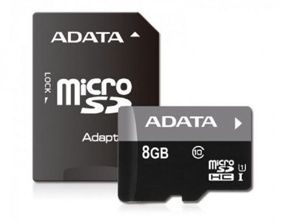MEMORIJSKA KARTICA 8GB MICRO SD + ADAPTER AUSDH8GUICL10-RAI ADATA