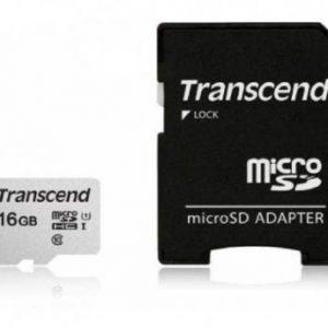 MEMORIJSKA KARTICA MICRO SD 16GB TRANSCEND + ADAPTER TS16GUSD300S-A