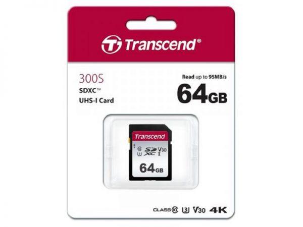 MEMORIJSKA KARTICA TRANSCEND SD 64GB TS64GSDC300S