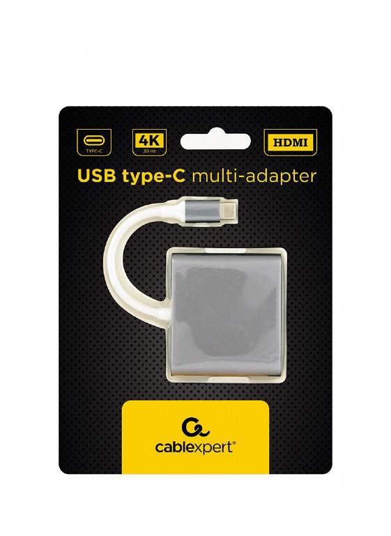 HUB CABLEXPERT A-CM-HDMIF-02-SG USB TYPE C HDMI