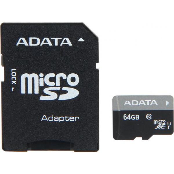 MEMORIJSKA KARTICA MICRO + SD ADAPTER ADATA 64 GB AUSDX64GUICL10-RA1