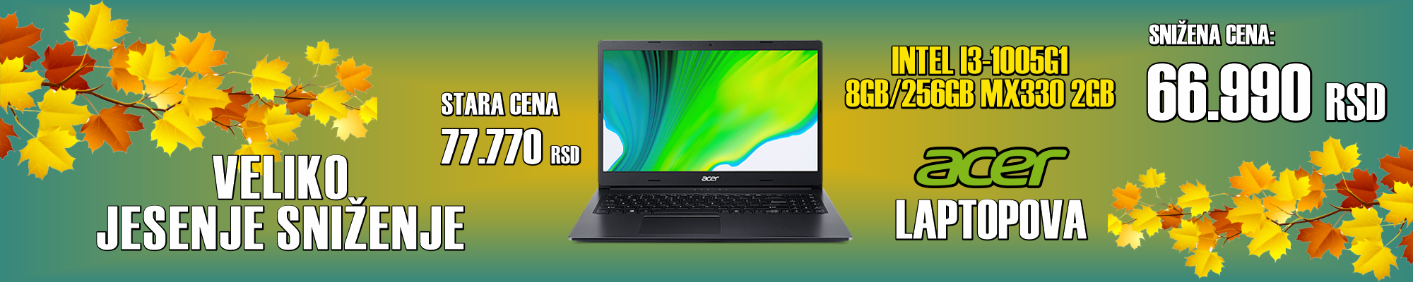 acer laptop sniženje popust