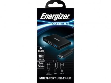 HUB ENERGIZER ULTIMATE HC303CV USB-C/ HDMI/ USB-A 3.0