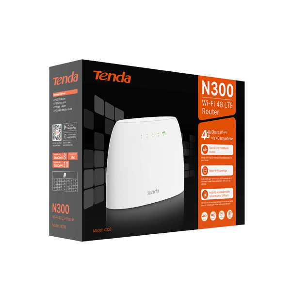 RUTER 4G03 N300 TENDA 3G/4G WI FI