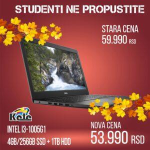 NOTEBOOK DELL VOSTRO 3591 I3-1005G1 /4GB/1TB/256GB/DVD-RW