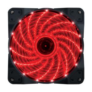 VENTILATOR 120X120 ZEUS RED LED LIGHT